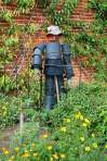 scarecrow, what to do with old black pots, how to make a scarecrow, how to make a scarecrow out of recycled materials,